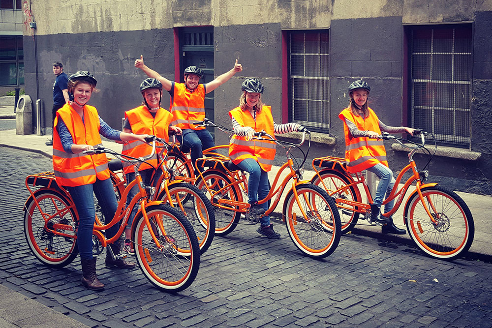 E-bike tour door Dublin