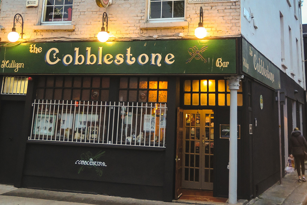 The Cobblestone pub in Dublin